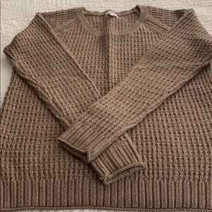 Sweater with gold flecks